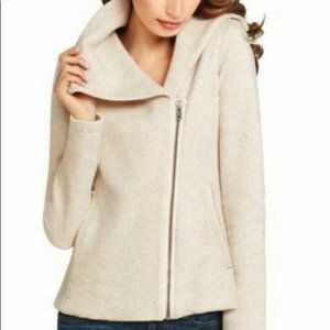 CAbi Ryder Oatmeal Quilted Moto Jacket #913 Size S